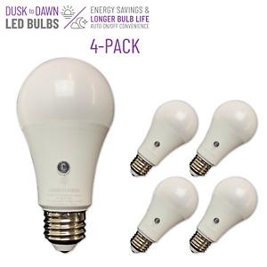 BRIGHTLIVING 8 Watt Dusk to Dawn LED Light Bulbs, Soft White, 4-Pack