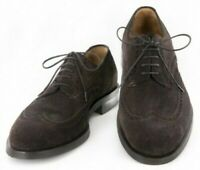 Neuf Sutor Mantellassi Daim Marron Chaussures - Bout D'Aile Lacet - 10/9