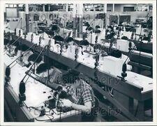 Sylvania Technicians Assemble Transistors Woburn MA Press Photo