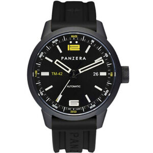 Panzera Timemaster S Men's Viper S MK3 42mm Black Automatic Watch TM42-02SR6