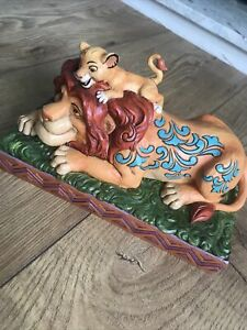 Disney Traditions A Fathers Pride Simba & Mufasa Disney Figurine  .Used But Exc