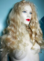 Remi Remy Front Lace Wig Blonde Indian Human Hair Body Wave Long Premium Wavy