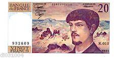 France Billet 20 FRANCS DEBUSSY 1983  N.011   NEUF UNC