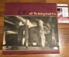 Bono Hand Signed Autographed U2 The Unforgettable Fire Vinyl Album JSA COA Nice