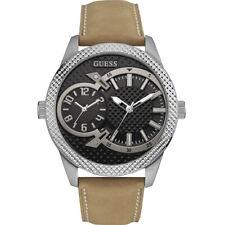 Guess Uhr Uhren Herrenuhr W0788G2 Co-Pilot Leder Armbanduhr NEU