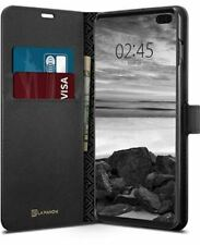 Case Spigen SGP LA MANON WALLET SAFFIANO for SAMSUNG GALAXY S10 PLUS - BLACK