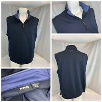 Ping Collection Golf Vest Pullover L Men Blue ¼ Zip Poly LNWOT YGI C0-300