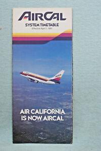 AirCal Timetable - April 1, 1981