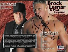 Brock Lesnar Signed 7x9 WWE Live Event Program Page Photo BAS Beckett COA UFC