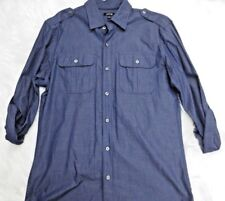 Apt.9 Shirt Small Blue Button Front Long Sleeve Casual Mens