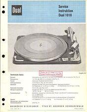 Dual Service Manual para Phono 1010