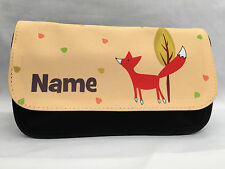 Personalised Pencil Case - Fox Design - Christmas Gift