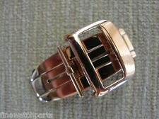 New HQ 316L 18mm S/S Rose Gold Plated Deployment Buckle-Clasp Fit JLC Strap