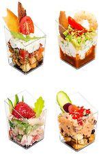 32 QUADRATI PICCOLI Slant bicchieri di plastica... alta qualità chiaro cubo dessert titolari