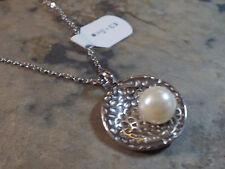 Damen Edelstahl Halskette Kette mit Anhänger Muschel mit Perle 1325