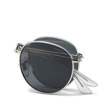 Men Steampunk Polarized Fold Sunglasses Women Foldable Designer Goggles Unisex