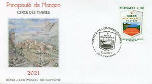Monaco Tennis Stamps 2021 FDC Rolex Monte-Carlo Masters Sports 1v Set