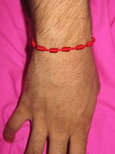 """MEN'S ROSARY ADJUSTABLE  BRACELET """"RED"""" One Size Fit All FREE SHIPPING !"""