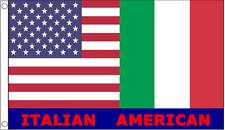 Italian American Friendship Italy and USA 5'x3' Flag - LAST FEW