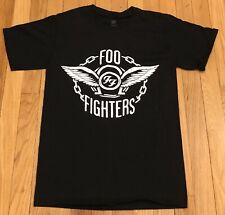 Foo Fighters Black T Shirt Wrigley Field 2018 Chicago Size Small Free Shipping!