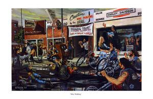 Dave Mann Ed Roth Studios Print Poster Bike Chopper Bike Wedding
