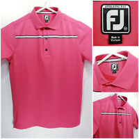 FootJoy FJ Mens Medium Athletic Fit Golf Shirt Polo Pink Polyester