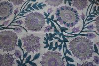 5Yard Indian Hand Block Print Pure Cotton Fabric Sanganeri Running Fabric yard71
