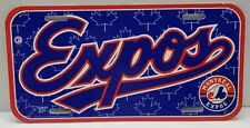 VINTAGE 1997 MLB MONTREAL EXPOS LICENSE PLATE TAG WINCRAFT SPORTS USA GOOD COND.