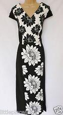 new NEXT BNWT ladies black & white floral stretch wiggle midi Dress size 12 T