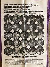 Save The Children 1973 27x41 Orig Movie Poster WOW  Great Rare Hard to find!