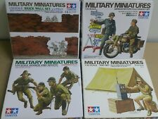 Tamiya 1/35 Military Army Figures Brick Set x 4 sets #35028, 35074, 35090, 35241