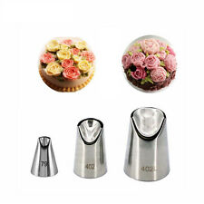 3Pcs/set  Stainless Steel Nozzles Pastry Cream Cakes Baking Decorating Tips Set