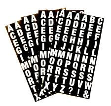 Alfabeto A-Z Adesivi, Lettere Bianco su Nero 10mm ADESIVI QUADRATI-RCL7963