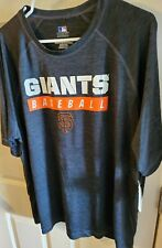 Genuine Merchandise Mens Blark marled Giants Baseball poly Shirt sz 2XL chest 52