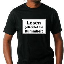 T-Shirt,Lesen gefährdet die Dummheit,Fun,Kult,Bildung,Fruit of the Loom,S-XXL
