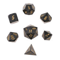 7x Metal Polyhedral Dice Set D6-D20 for Board Games Dungeons&Dragons Toys #8