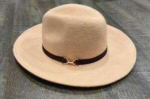 NWOT Janie and Jack Tan Wool Hat Size 12-24 Months