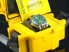 Invicta Men I-Force Army Lefty SII Chronograph Braided Irish Green Dial SS Watch