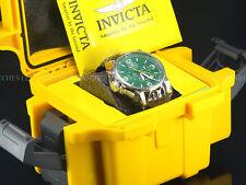Invicta Men I-Force Army Lefty SII Chronograph Braided Irish Green Dial SS Watch