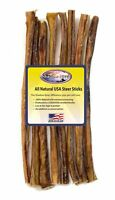 Shadow River 12 Inch REGULAR Premium USA Beef STEER Bully Sticks Dog Chew Treats