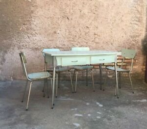 CUCINA COMPLETA VINTAGE ANNI '50 IN FORMICA TURCHESE