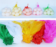 100Pc Plastic Mesh Nylon Net Bag For Vegetable Fruit Nuts Toys With Buckle 35cm