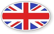 British Flag Oval Decal / Bumper Sticker Window Label England Britain Union Jack