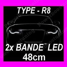 2 BANDE LED BLANCHE FEUX JOUR DIURNE FEU BLANC RENAULT KANGO MASTER MODUS R25