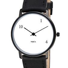 "Projects Watches ""MoMA Watch"" Quarzo Acciaio Nero Pelle Unisex Bianco Orologio"