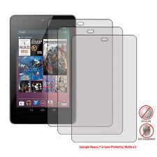 3x Pack Anti-Glare (Matte) Screen Protector for the Google Nexus 7 - (3pc)