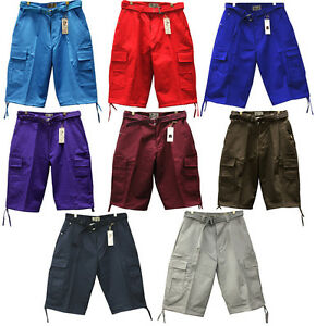 BTL 8 DIFFERENT COLORS OF SOLID CARGO SHORTS