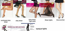 Hanes Womens silk reflections sheer tights Size AB, CD, GH, EF, Petite small
