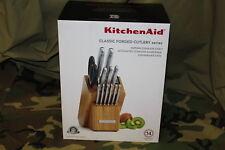 KitchenAid KKFSS14BO Classic Forged Cutlery 14 Pc Knife Block Set
