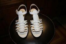 Isaac Mizrahi wedge sandals, white, size 8M Women's, new